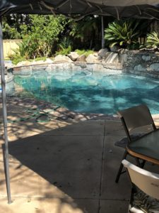 Recycle swimming pool water